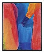 "Bild ""Canyon blau"" (1995) (Original / Unikat), gerahmt"