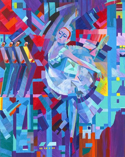 """Valeri Generosow: Bild """"Ballett - Benefiz"""" (2011) (Original / Unikat), ungerahmt"""