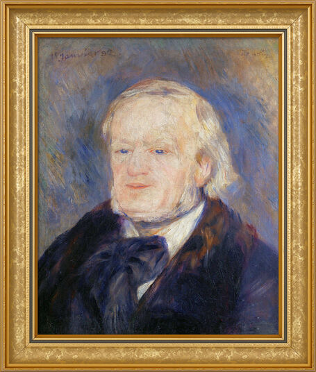 """Auguste Renoir: Picture """"Richard Wagner"""" (1882) in frame"""