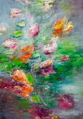 """Bild """"Blüten am See II"""" (2016) (Unikat)"""