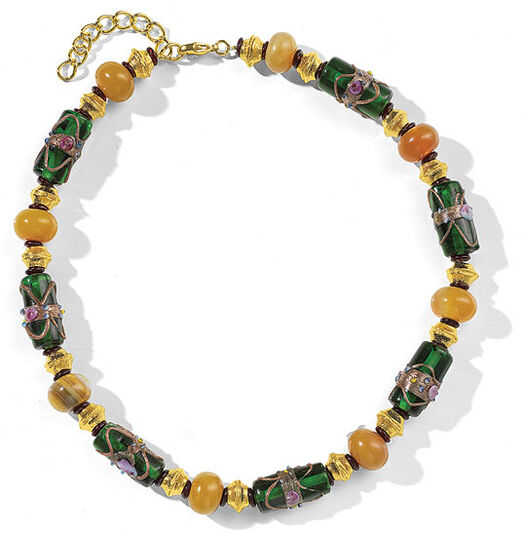 "Petra Waszak: Necklace ""Yellow Agate"""