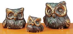 """Owl trio """"A Strange Family"""", bronze"""