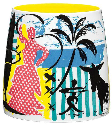 "Stefan Szczesny: Vase ""Flamenco Dancer"", Porcelain"