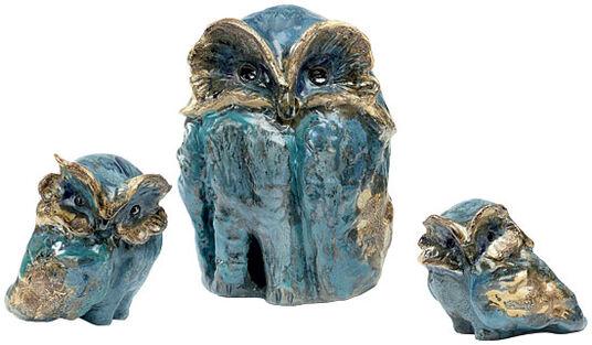 "Ursula Keusgen: Garden Objects ""Three Owls"" in a Set"