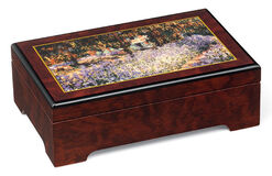 "Musical jewelry box ""Garden in Giverny"" - by Claude Monet"