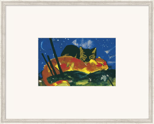 """Franz Marc: Bild """"Zwei Katzen"""" (1913), gerahmt"""