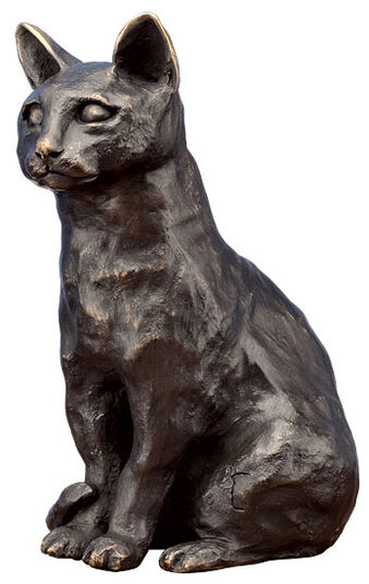 "Irene Kau: Sculpture ""Cat"" (2011), bronze"
