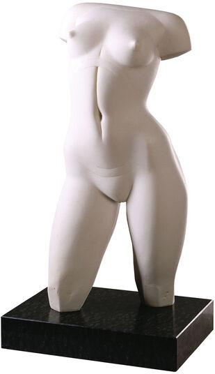 """Sybille de Braak: Skulptur """"Weiblicher Torso"""", Version in Kunstmarmor"""