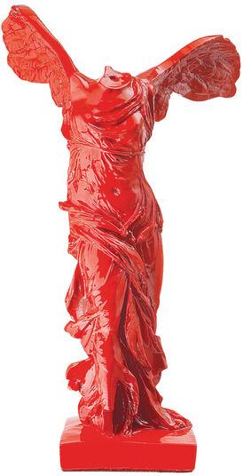 "Skulptur ""Nike von Samothrake"", Kunstguss rot"