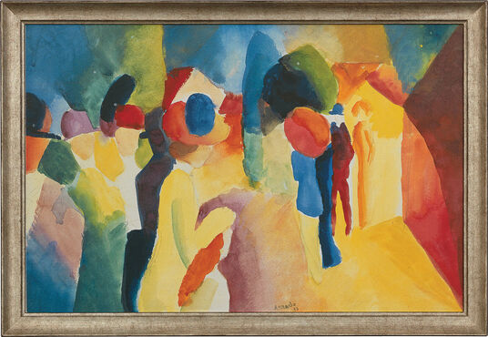 """August Macke: Picture """"With a Yellow Jacket"""" (1913)"""