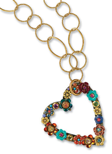 "Michal Golan: Necklace ""Heart of Flowers"""
