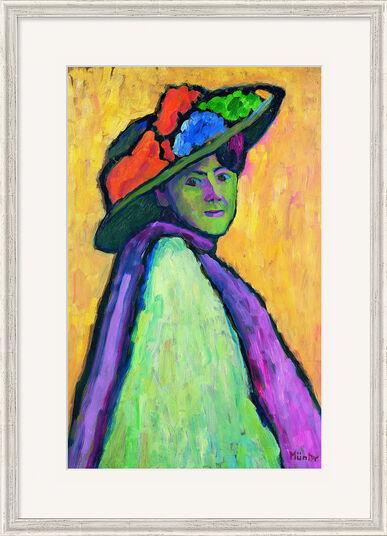 """Gabriele Münter: Bild """"Bildnis Marianne von Werefkin"""" (1909), gerahmt"""