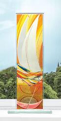 "Glass Object ""Light Sailor"", Orange"