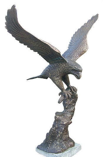 "Garden sculpture ""Eagle"", bronze"