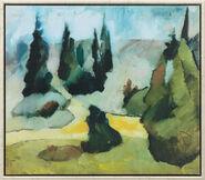 """Bild """"Park Dilborn im Nebel"""" (1914), gerahmt"""