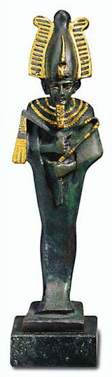 Osiris with a crown
