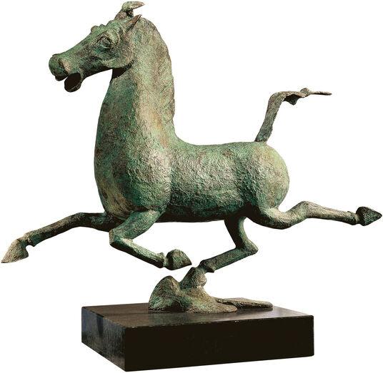 """Skulptur """"Das fliegende Pferd aus Gansu"""", Bronze"""