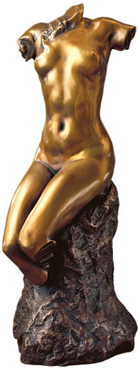 "Paul Wayland Bartlett: Skulptur ""Torso einer Frau"" (1895), Version in Bronze"