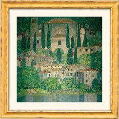"""Bild """"Kirche in Cassone am Gardasee"""" (1913), gerahmt"""