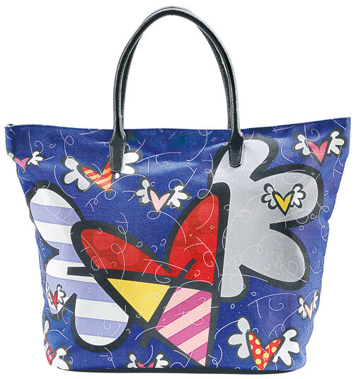 "Romero Britto: Shopper ""Flying Heart"""