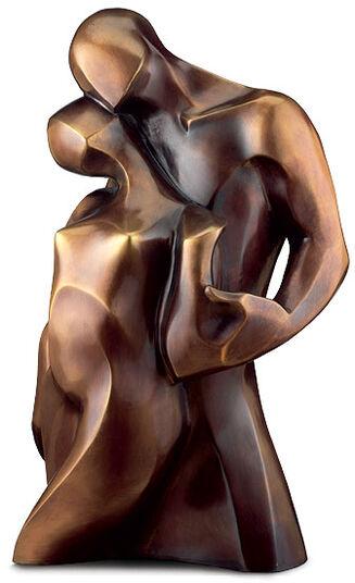"Bernard Kapfer: Sculpture ""Pas de Deux"" - The two of us, bronze"