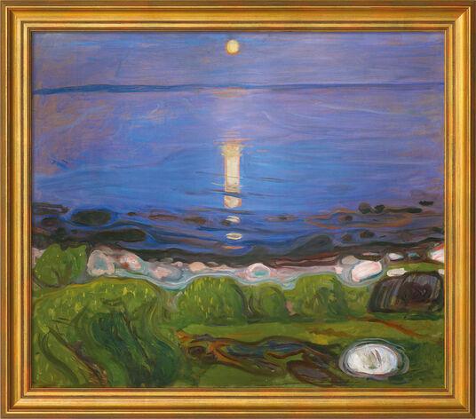 """Edvard Munch: Bild """"Eine Sommernacht am Strand"""" (1902), gerahmt"""