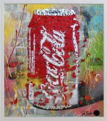 "3D-Bild ""Coca-Cola"" (Original / Unikat), gerahmt"