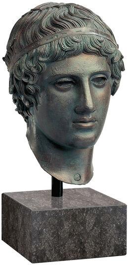"Ephebe head ""Lad with Singing Bird"", version in polymer bronze"