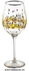 "(PM XIX/3) Wine glass ""BEAUTY IS A PANACEA - Platinum - white wine"""