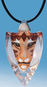 "Crystal glass necklace ""Tiger"""