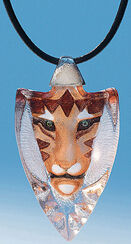 """Crystal glass necklace """"Tiger"""""""