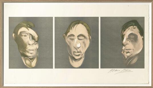 """Francis Bacon: Bild """"Studies for a Self-Portrait"""" (1983)"""