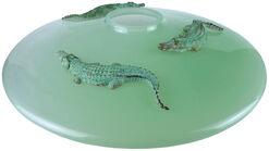 """Vase """"Alligatore Jade"""", Glas/Zinn"""