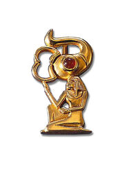 """Ancient Egyptian zodiac sign of """"Scorpio"""" (24.10.-11.22.) pin brooch with a lucky stone."""