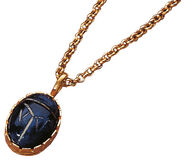 Lapis lazuli scarab with chain