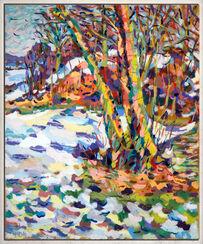 "Bild ""Schnee am Hügel"" (1983) (Unikat)"