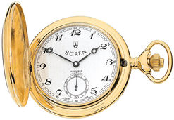 "BÜREN – Swiss pocket watch ""Savonette gold-plated"""
