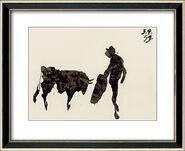"""""""Torros y Toreros I"""" in a frame"""