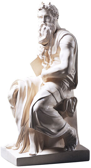 "Michelangelo Buonarroti: Sculpture ""Moses"" (1513-16), reduction in artificial marble"