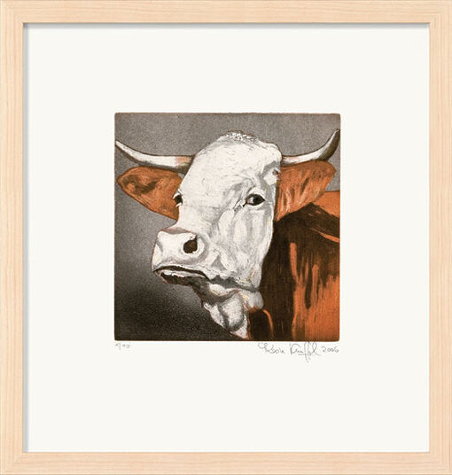 """Karin Kneffel: Bild """"Kuh (braun)"""" (2006)"""