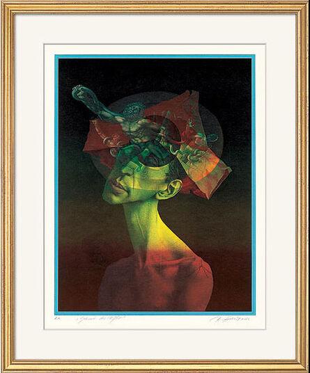"Rudolf Hausner: Bild ""Geburt des Mythos"" (1980)"