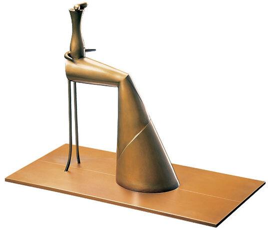 Paul Wunderlich: Sculpture 'Woman Sitting', bronze