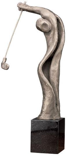 "Irene Kau: Sculpture ""The Golfer"", bronze (2009)"