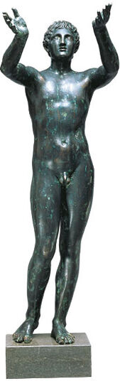 Leochares: Statue 'Praying Ephebus' (reduction), version in art casting