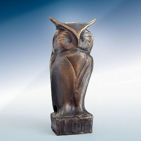 """Mechtild Born: Skulptur """"Eule"""", Bronze"""