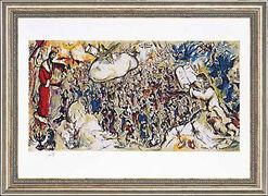 """Bild """"Exodus"""", 1964, gerahmt"""