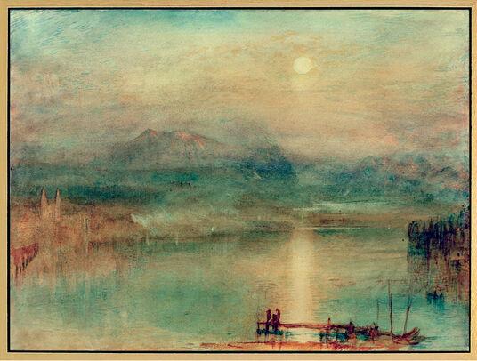 """William Turner: Bild """"Mondschein über dem Vierwaldstätter See"""" (um 1841-44), gerahmt"""