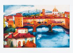 """Bild """"Ponte Vecchio"""", ungerahmt"""
