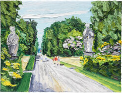 "Bild ""Weg im Park von Sanssouci"" (2015) (Unikat)"