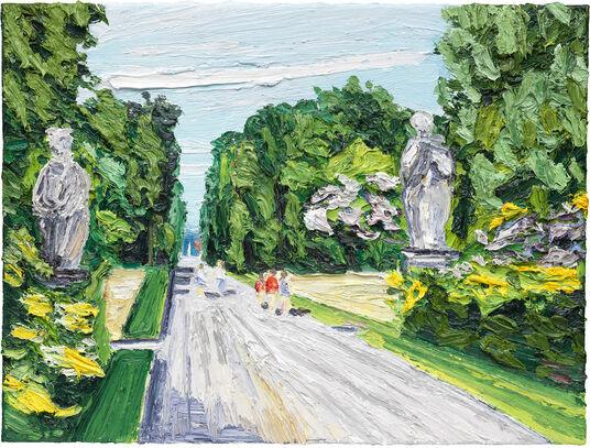 "Ben Kamili: Bild ""Weg im Park von Sanssouci"" (2015) (Unikat)"